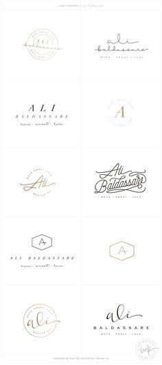 Logo Brand Launch: Ali Baldassare by Salted Ink - Fitness Brand Design - - Brand Stylist Web Design, Design Logo, Website Design, Typography Design, Design Ideas, Logo Inspiration, Fitness Design, Fitness Logo, Fitness Brand