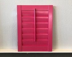 Interior Wood Shutter Made handmade from high quality basswood, this decorative shutter features a plantation style louvre size which allows just the right amount of sunlight in though your window. Shutters For Sale, Interior Wood Shutters, Create Yourself, Etsy Seller, Sunlight, Pink, Louvre, Window, Handmade