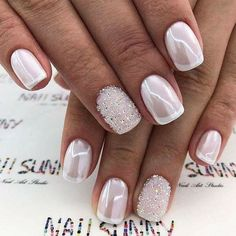 39 Top Newest Homecoming Nails Designs Popular Homecoming Nail Trends picture 1 de arte de uñas Gorgeous Nails, Pretty Nails, Pretty Toes, Nagellack Trends, Wedding Nails Design, Wedding Manicure, Wedding Nails For Bride, French Tip Nails, French Pedicure