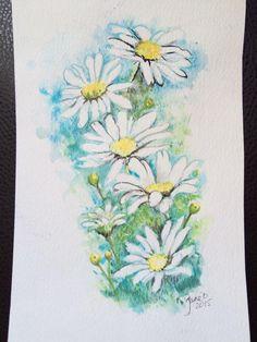 Daisies #paintseptember