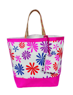 YOLO Women's Daisy Delight Oversized Tote bag Fuchsia Large