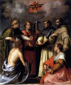 Andrea del Sarto, Disputation on the Trinity, 1517, oil on wood, 232 x 193cm., Galleria Palatina (Palazzo Pitti), Florence.