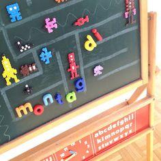 Wandtafel mit Bügelperlen-Magnete