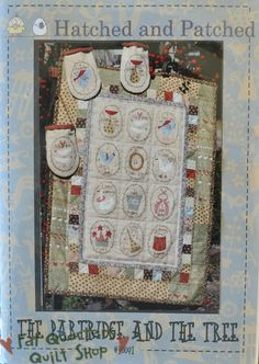 Fat Quarters Quilt Shop For all your quilting & fabric needs : Hatched and Patched Pattern - The Partridge and the Tree - #P0091