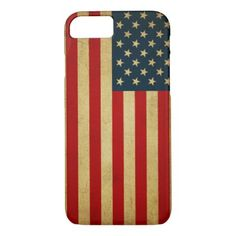 AMERICAN VINTAGE FLAG iPhone 8/7 CASE - vintage gifts retro ideas cyo
