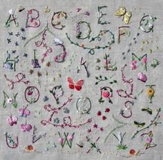 Fresh botanical alphabet by Benedicte Reveilhac, France. Kit includes letter, approximately 10 inches high,permanently stamped on high quality 15 x 15 inchlin