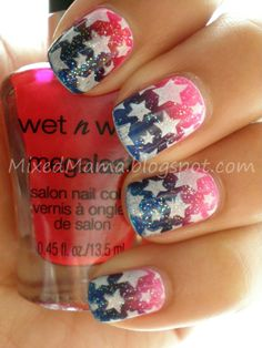 memorial day/ 4th of july nails