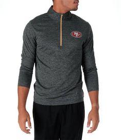 Majestic Men's San Francisco 49ers NFL Intimidating Half-Zip Training Shirt