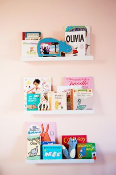 book displays, floating shelves, girl nurseries, ava room, book shelv