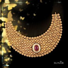 Look like an outline of glamour and make everyone crave to win your heart and melt over the beauty that you create with this master piece born in the by lanes of #sunar. #SunarJewelsIndia