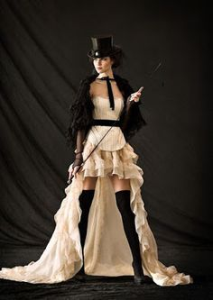 From the Steampunk Fashion Guide to Skirts & Dresses: High-Low Hem Skirts…