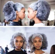 GRAY ♥♥♥♥♥♥♥♥ When I get old, I will be rocking that grey fro