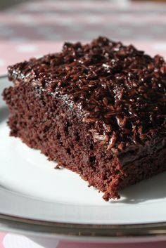Vegansk Chokoladekage med kokosglasur
