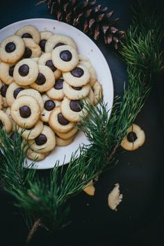 """""""wintery balsam fir thumbprint cookies filled with a chocolate orange ganache.""""  Source: Meet Beth Kirby: Local Milk (Recipe Included!) http://blog.freepeople.com/2014/01/meet-beth-kirby-local-milk/#ixzz3hUMQXAke"""