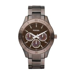 Fossil - Stella Stainless Steel Watch - Brown