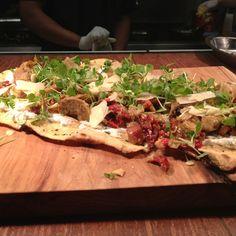 Artichoke Chorizo flatbread...wow #Bar145 #Gastropub