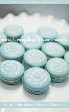 Brush Embroidered French Macarons