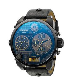 Diesel | Black | Wristwatch | Watch | Digital + Analogue Watch