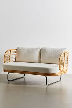 Urban Outfitters' Sale Features Tons of This Trendy Furniture - DIY Cane Furniture, Bamboo Furniture, Home Decor Furniture, Furniture Design, Outdoor Furniture, Country Furniture, Furniture Online, Settee Sofa, Rattan Sofa