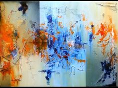 Learn To Paint an Acrylic Abstract Painting Ultra Thick 2 HD By Jan van Oort - YouTube