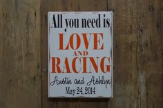 All you need is LOVE and RACING Personalized Wedding by CSSDesign