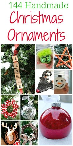 144 Easy Handmade Christmas Ornament Ideas that you can make with your family this holiday season for your Christmas tree! via @Mom4Real