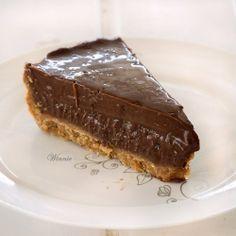 No-bake Chocolate Halva Tart recipe