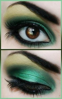 """Fun! Brown Eyes work well with this Green, """"Emerald City"""" trend! #SocialCafe"""