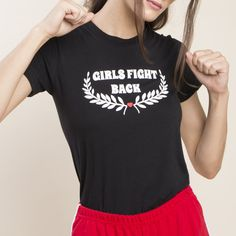 Girls Fight Back Baby Tee valfre.com