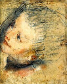 Federico Barocci - Studio di testa femminile