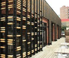 Стильный дизайн интерьера открытой пекарни-кафе, Нью-Йорк