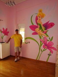 tinkerbell kids room  