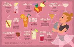 mad men illustrated cocktails