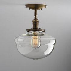 Schoolhouse Glass 10 clear Shade Flush or Semi-Flush