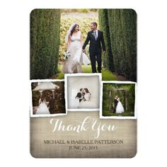 Country Wedding Thank You Cards Country Burlap Wedding Photo Thank You Card