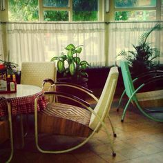 Furnitures from the past at Toko Oen, a cafe in Malang, Indonesia