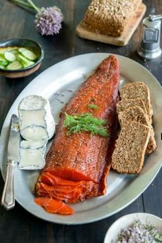 Gravlax, or salt and sugar-cured salmon, is an impressive appetizer for any dinner party, and it's so easy to make at home!