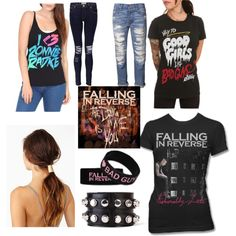 """Falling in Reverse"" by bandsaremylyfe on Polyvore"