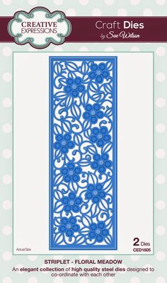 PartiCraft (Participate In Craft): Striplet Collection Floral Meadow die set