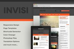 Invisi - News, Blog WP Theme by Themes Kingdom on @creativemarket Best Website Templates, Best Templates, Themes Themes, Cool Themes, Top Wordpress Themes, Ecommerce Template, Drupal, Website Themes, Business Card Logo