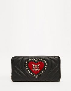 Love Moschino Quilted Purse with Heart and Studding