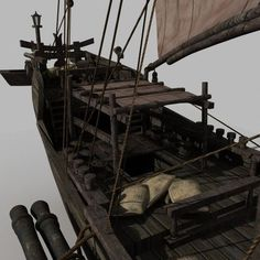 chinese old ship 03 model max obj fbx 8 Junk Ship, China Map, 3d Projects, Antique Toys, Water Crafts, Sailboat, Sailing Ships, Chinese, Material Board