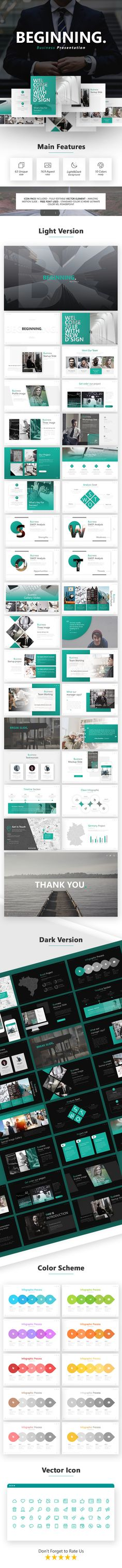 Start-up #Presentation Template - #Business #PowerPoint #Templates