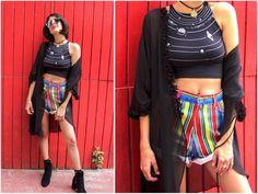 90's Black Sheer Kimono with Ruffle Trim by ThreadedVibes on Etsy