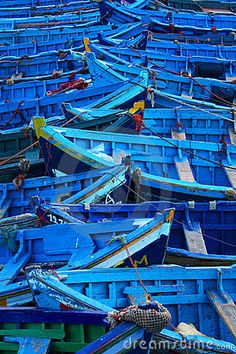 Fishing boats in Essaouira by Rechitan Sorin