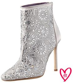 Manolo Blahnik BG 111th Anniversary Lacelimi Crystal-Covered Satin Bootie