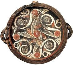 Bronze age Etruscan plate.