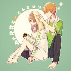 Tags: Fanart, Pixiv, PNG Conversion, Pixiv Id 213494, Brothers Conflict, Ema (Brothers Conflict), Asahina Natsume
