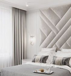 upholstered wall panels fully customised a.it amitangirad Aadishree Upholstered wall panels set, sizes from up to if you … Master Bedroom Interior, Luxury Bedroom Design, Master Bedroom Design, Home Interior, Home Decor Bedroom, Modern Master Bedroom, Beds Master Bedroom, Trendy Bedroom, Interior Design