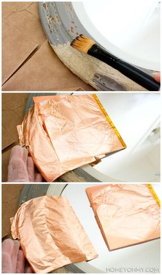 DIY copper mirror - How to gild - LIFE IS COMPLETE. I WILL GILD EVERYTHHHHING